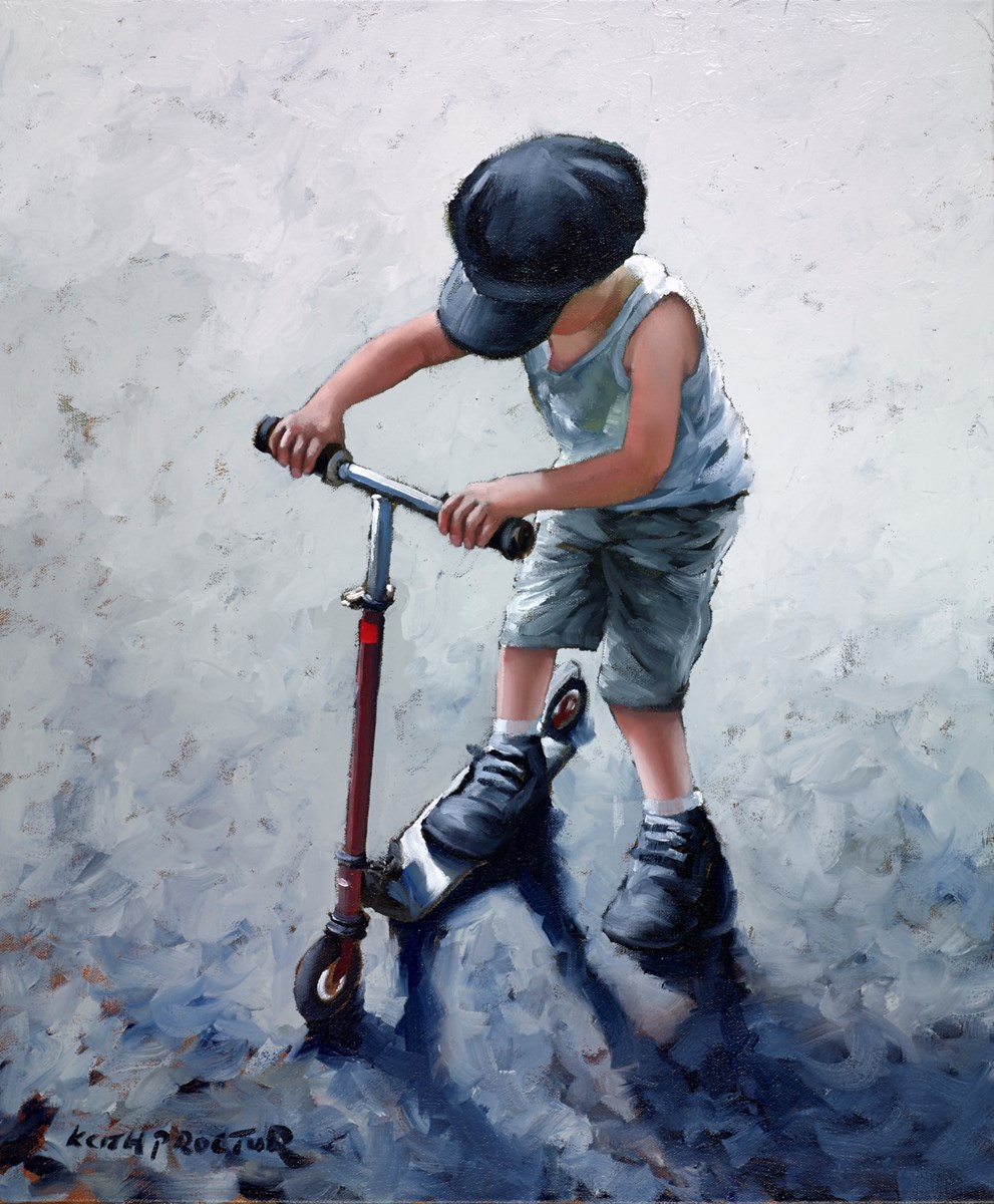 I Love My Scooter by keith proctor -  sized 20x24 inches. Available from Whitewall Galleries